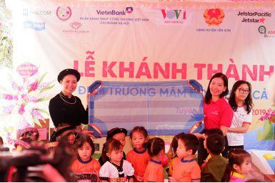 KIMSEN chung tay vì cộng đồng: Khánh thành điểm trường mầm non Thôn Cả
