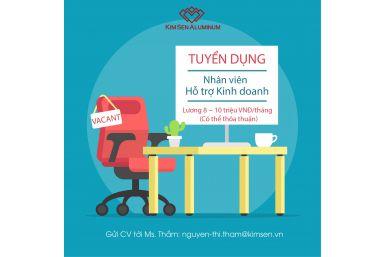Tuyển dụng vị trí Nhân viên Hỗ trợ Kinh doanh (VP Hà Nội)