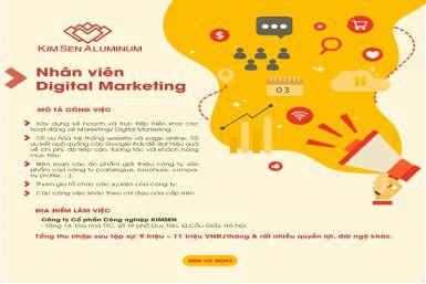 Tuyển dụng Vị trí Nhân viên Digital Marketing