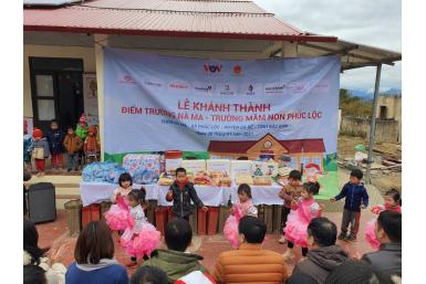 KIMSEN chung tay vì cộng đồng: Khánh thành điểm trường Nà Ma (Bắc Kạn)