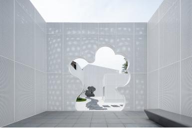 Hiệu sách có kiến trúc nhôm trắng độc lạ tựa đám mây bồng bềnh